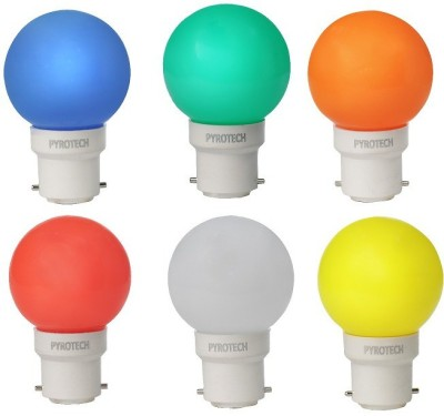 0.5W LED Bulb (Multicolor, Pack of 6)