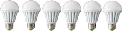 3W E27 Plastic Body White LED Bulb (Pack of 6)
