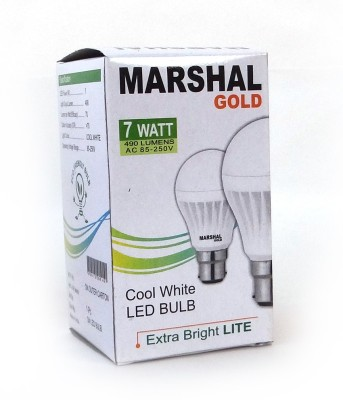 Marshal-Gold-7W-B22-LED-Bulb-(White,-Set-of-12)
