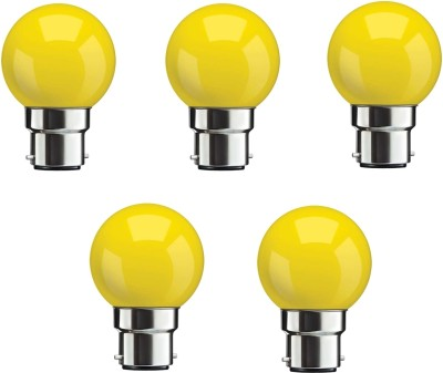 0.5W Yellow LED Bulbs (Pack Of 5)