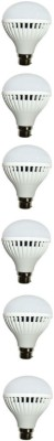 N Safe 7W White LED Bulbs (Pack Of 6)