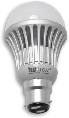 5-W-B22-Yellow-LED-Bulb