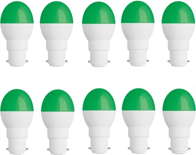 0.5W-Plastic-Body-Green-Candel-LED-Bulb-(Pack-of-10)