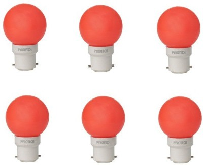 0.5W-LED-Bulb-(Red,-Pack-of-6)