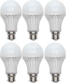 Gold-7W-B22-LED-Bulb-(White,-Set-of-6)