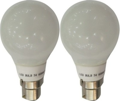 5 W LED Bulb B22 White (pack of 2)