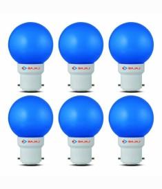 0.5 W B830025 LED Bulb Blue (pack of 6)