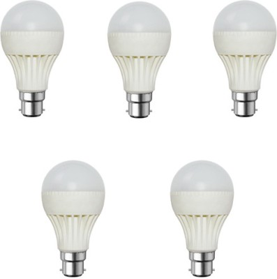 3-W-B22-LED-Bulb-(White,-Pack-of-5)