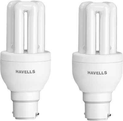 B22 8W CFL Bulb (Cool Day Light, Pack of 2)