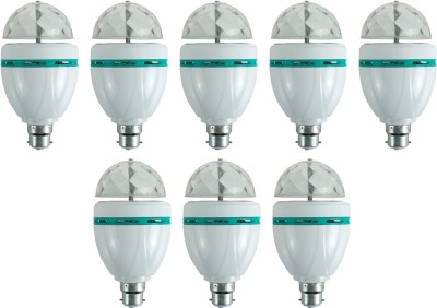 3-W-LED-Bulb-(Multicolor,-Pack-of-8)