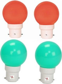 0.5W-LED-Light-Multicolour-(Pack-Of-4)