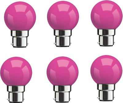0.5W Pink LED Bulbs (Pack Of 6)