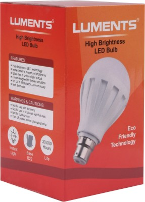 7W 460 Lumens White Eco LED Bulbs (Pack Of 8)