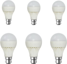 7W White LED Bulb (Pack of 6)