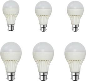 5W White LED Bulb (Pack of 6)