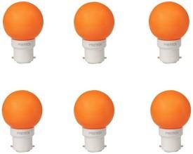 0.5W LED Bulb (Orange, Pack of 6)