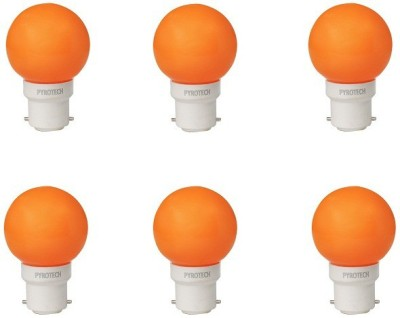 0.5W LED Bulb (Orange, Pack of 6)