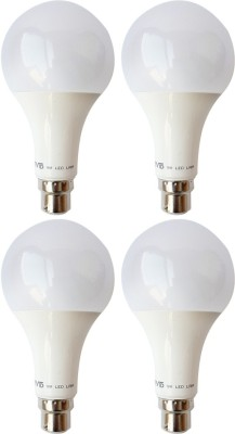 9 W B22 LED Bulb (White, Pack of 4)