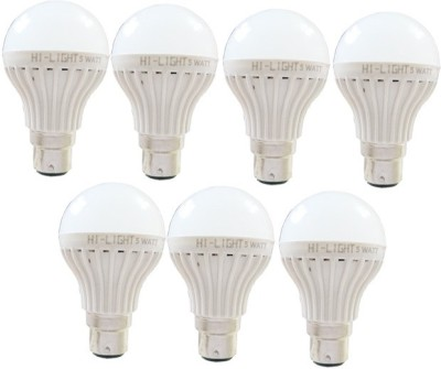 5W B22 LED Bulb (White, Set of 7)