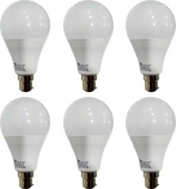 12 W B22 PAG LED Bulb (White, Pack of 6)