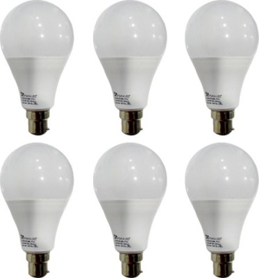 12 W B22 PAG LED Bulb (White, Pack of 6)