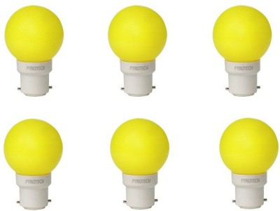 0.5W LED Bulb (Yellow, Pack of 6)