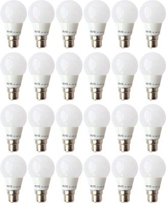3W B22 LED Bulb (White, Set of 24)