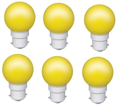 0.5W Yellow LED Bulb (Pack of 6)