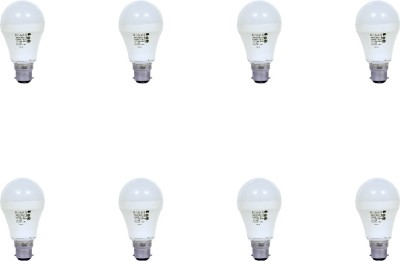 9W Aluminium Body White LED Bulb (Pack of 8)