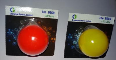 Greaves 0.5 W LED Bulb B22 Red,Yellow (pack of 2)