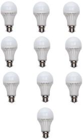 7W B22 LED Bulb (White, Set of 10)