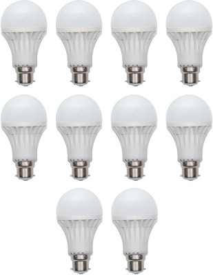 3W B22 LED Bulb (White, Set of 10)