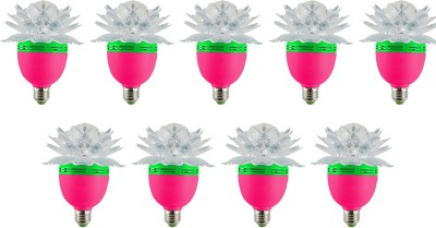 Lotus 3 W LED Bulb (Multicolor, Pack of 9)