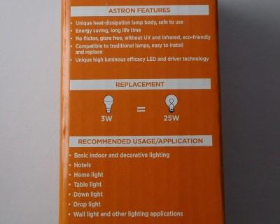 3W Cool White LED Bulbs