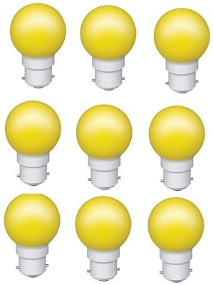 0.5W Yellow LED Bulb (Pack of 9)