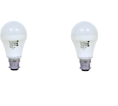 9W Aluminium Body White LED Bulb (Pack of 2)