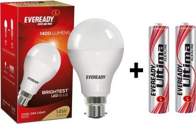 14 W LED 6500K Cool Day Light Bulb B22 White
