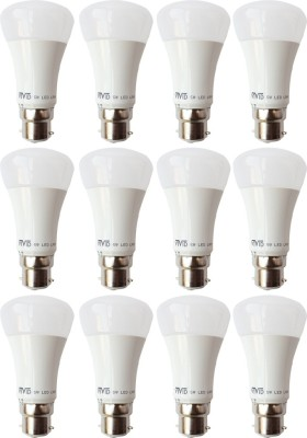 5W B22 LED Bulb (White, Set of 12)