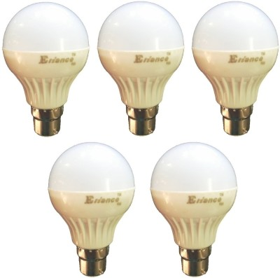5W B22 LED Bulb (White) [Pack of 5]