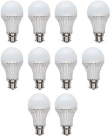 Gold 5 W LED Bulb (White, Pack of 10)
