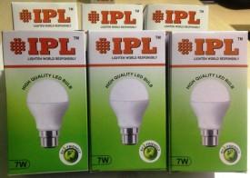 7W B22 LED Bulb (White, Set of 6)