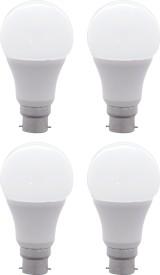 10W B22 LED Bulb (White, Set Of 4)