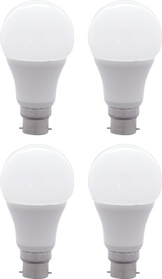 10W B22 LED Bulb (White, Set Of 4)