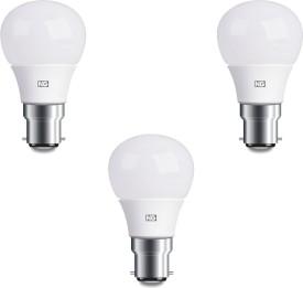 6W Cool White LED Bulbs (Pack Of 3)