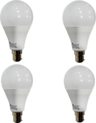 12 W B22 PAG LED Bulb (White, Pack of 4)