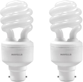 Spiral Shape T3 B-22 15W CFL Bulb (Cool Day Light, Pack of 2)