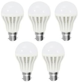 12W White LED Bulbs (Pack Of 5)