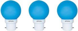 0.5W B22 LED Bulb (Blue, Set of 3)