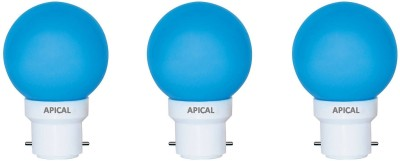 0.5W B22 LED Bulb (Blue, Set of 3)