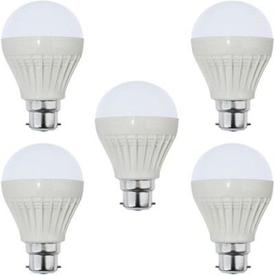 3W Plastic White LED Bulb (Pack Of 5)